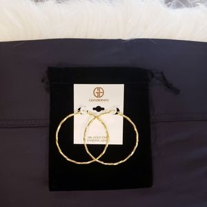 GIANI BERNINI 18k Large Twist Hoop Earrings